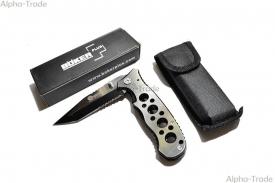 ножи и мачете - нож складной туристический boker silver в чехле