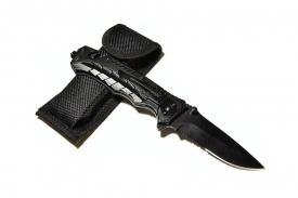 BOKER Нож складной туристический в чехле Black