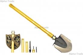 туристические лопаты - универсальная складная многофункциональная лопата steppe wolf (10 в 1)